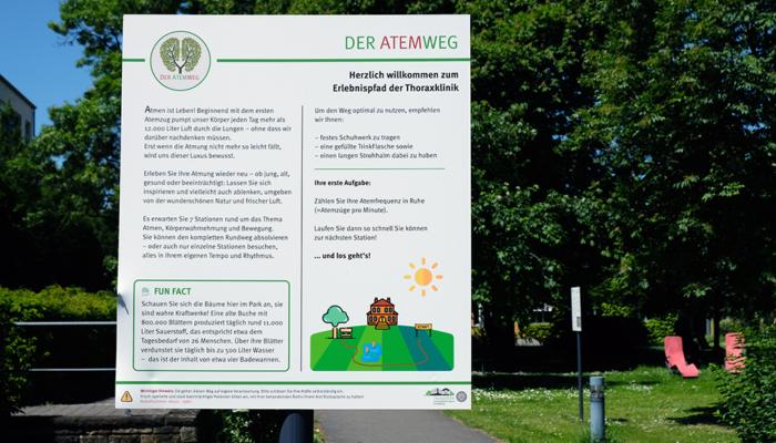 """Der """"AtemWeg"""" der Thoraxklinik Heidelberg"""